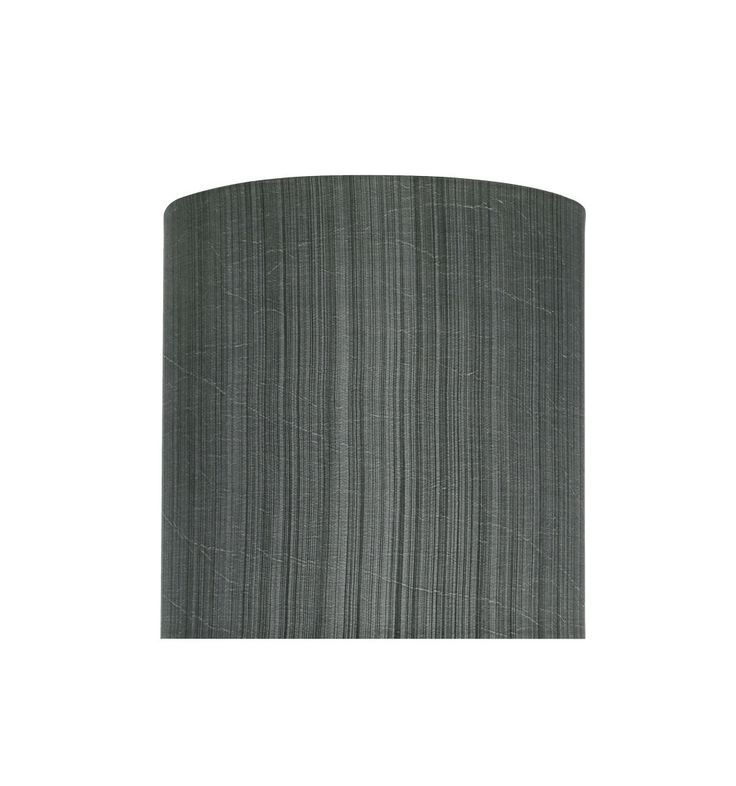 """# 58301 Transitional Drum (Cylinder) Shape UNO Construction Lamp Shade in Grey & Black, 8"""" Wide (8"""" x 8"""" x 8"""")"""