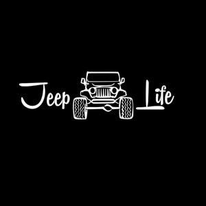 Jeep Life - Vinyl Decal Choose Size and Color Made with 100% Automotive Grade Vinyl.