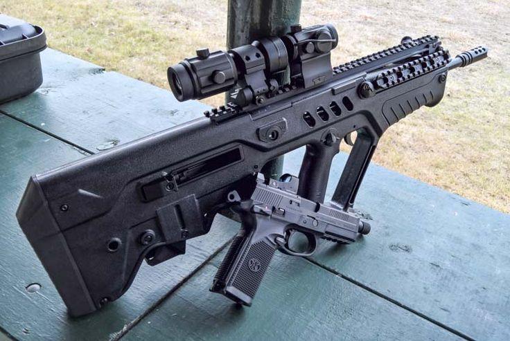 iwi tavor weapon war guns daniel dot primary rich magnifier 3x arms iron sights firearms