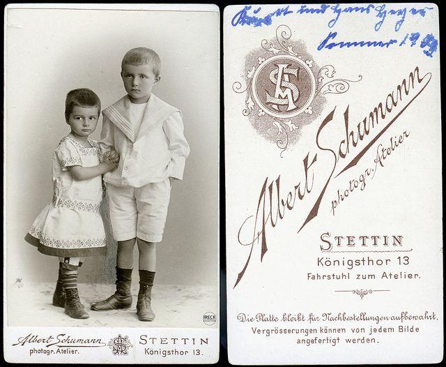 1903 Atelier Albert Schumann Stettin Szczecin Pomorze Pommern Kinder CDV   Flickr - Fotosharing!