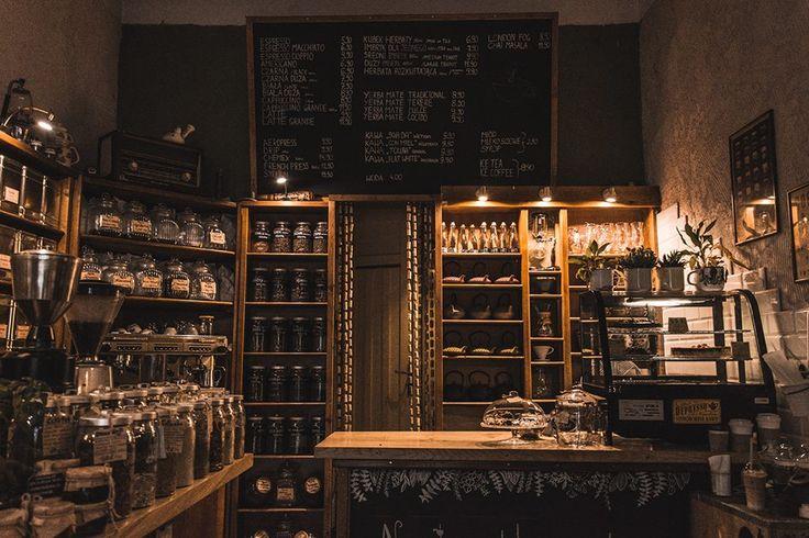 KawaLerka CAFE  Kraków, Poland cozy, interior, design rusical, colonial