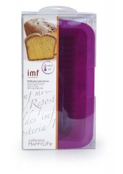 MOLDE PLUM CAKE SILICONA HAPPY LIFE, 26cmx6,5cmx14cm | IMF Fabricante de menaje de cocina