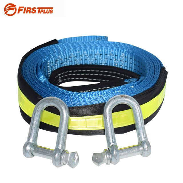 ATV Tow Strap with Shackle /& Mesh Bag