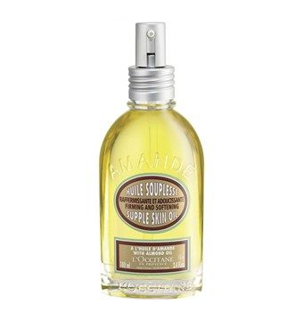 L'OCCITANE ALMOND SUPPLE SKIN OIL. 100Ml. 410 SEK. Browse more here: http://www.parelle.se/sv/product/40165/almond-supple-skin-oil #Sweden #ParelleCosmetics #Skincare #Loccitane #Beauty #Cosmetics