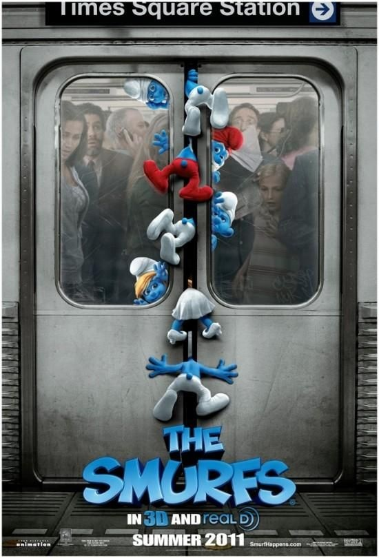Smurfs! I watched some of the cartoons b/c my parents did so we saw the movie. I need to see Smurfs 2!!!