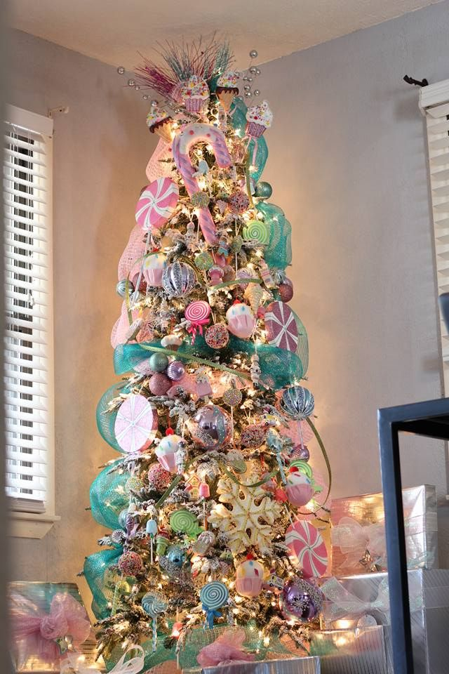 Our 2015 Christmas Tree- DamyMedia  Candy Land Theme Christmas Tree Christmas tree decoration ideas Christmas tree ideas  Candy Land Theme Christmas Decorations Candy Land Theme Christmas presents