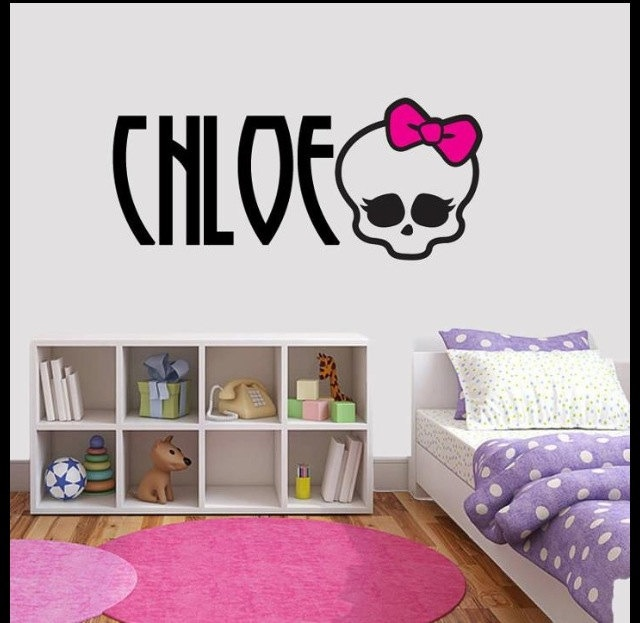 Wall Decal Monster High U0026 Name By VinylsDirect On Etsy