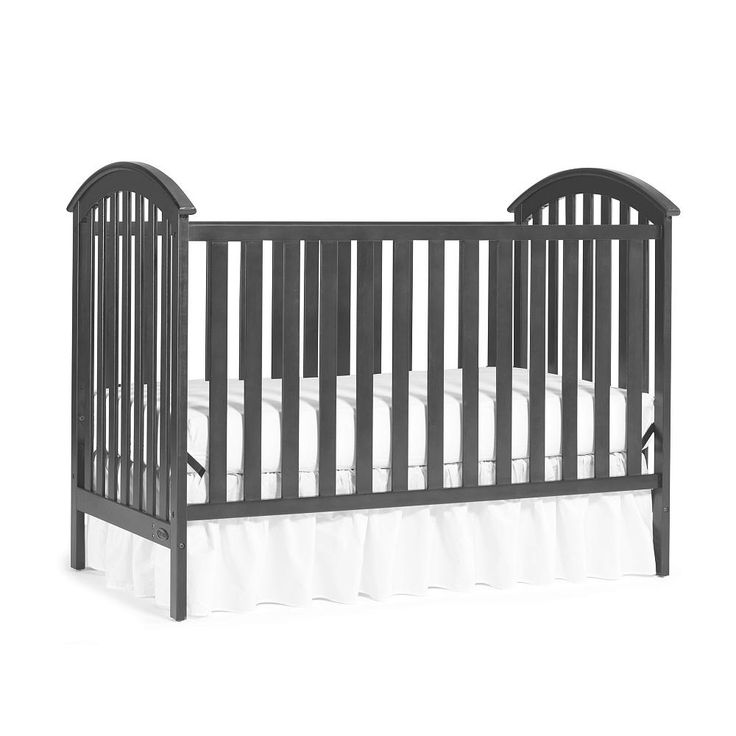 Carefully crafted, the Graco Freeport Classic Convertible Crib is simple and functional. Its practical design provides a transitional look for your nursery. It features stationary side rails for a safe sleeping environment for baby with a mattress platform that adjusts to three different heights depending on the age of your baby. This crib transitions easily to a toddler bed and daybed.