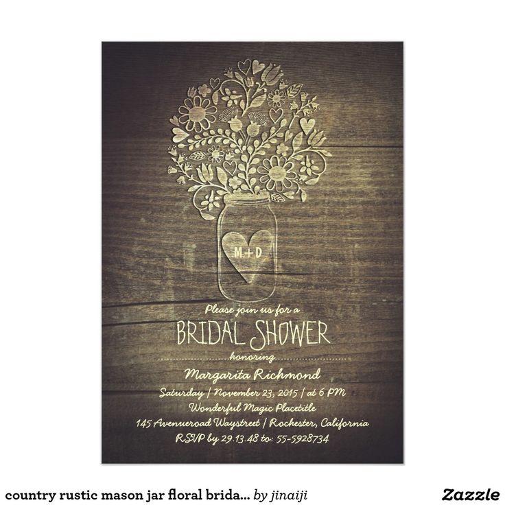 Floral Rustic Mason Jar Barn Bridal Shower