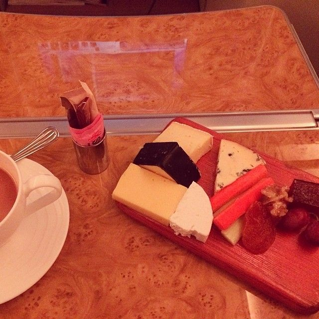 Cheese board for one | Emirates A380 Business Class