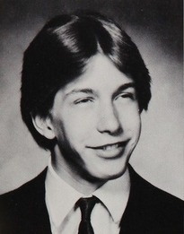 Stephen Baldwin in his 1984 yearbook at Berner high school in Massapequa, New York.  Heeheehee Oh Stephen!!