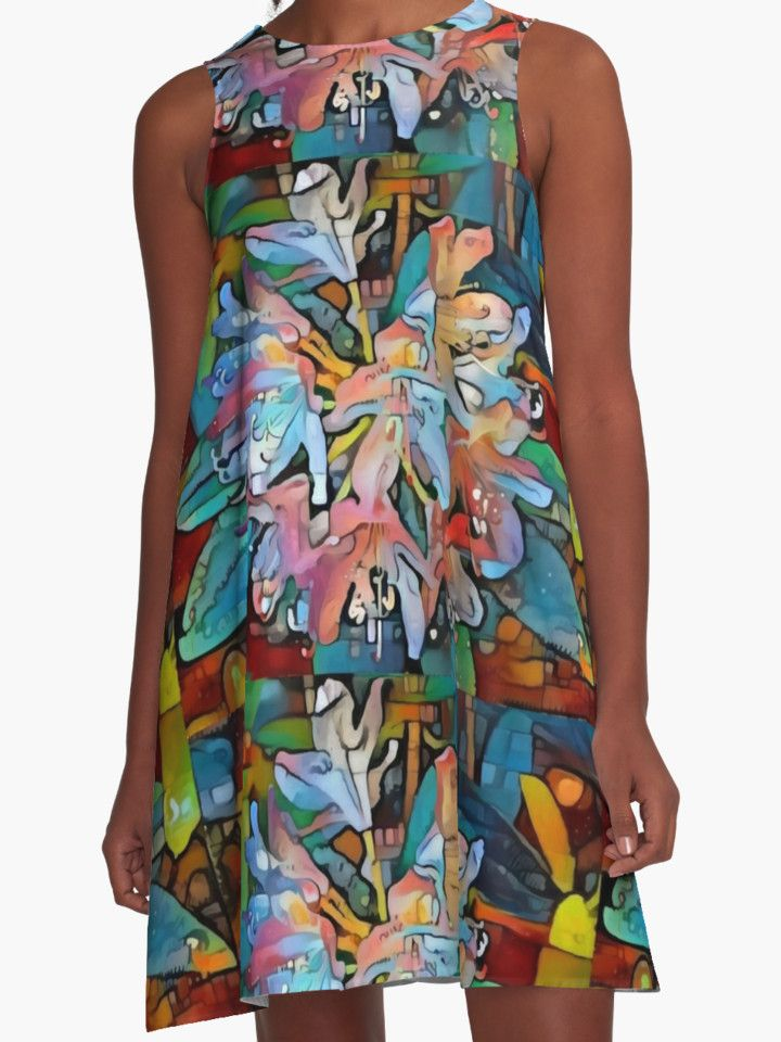 """Graffiti flowers"" A-Line Dresses by siwabudda | Redbubble"