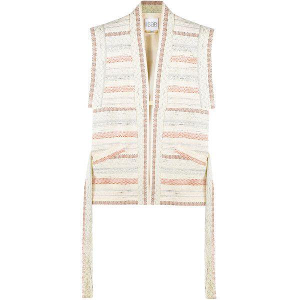 Womens Jackets ISAE STUDIO Lena Tri-tone Jacquard Kimono Jacket (1,580 CNY) ❤ liked on Polyvore featuring outerwear, jackets, kimono jacket, white jacket, jacquard jacket, white kimono jacket and white kimono