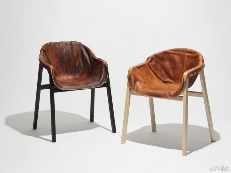 Unique Chair With Hardened Leather As Seating   Hardened Leather Chair