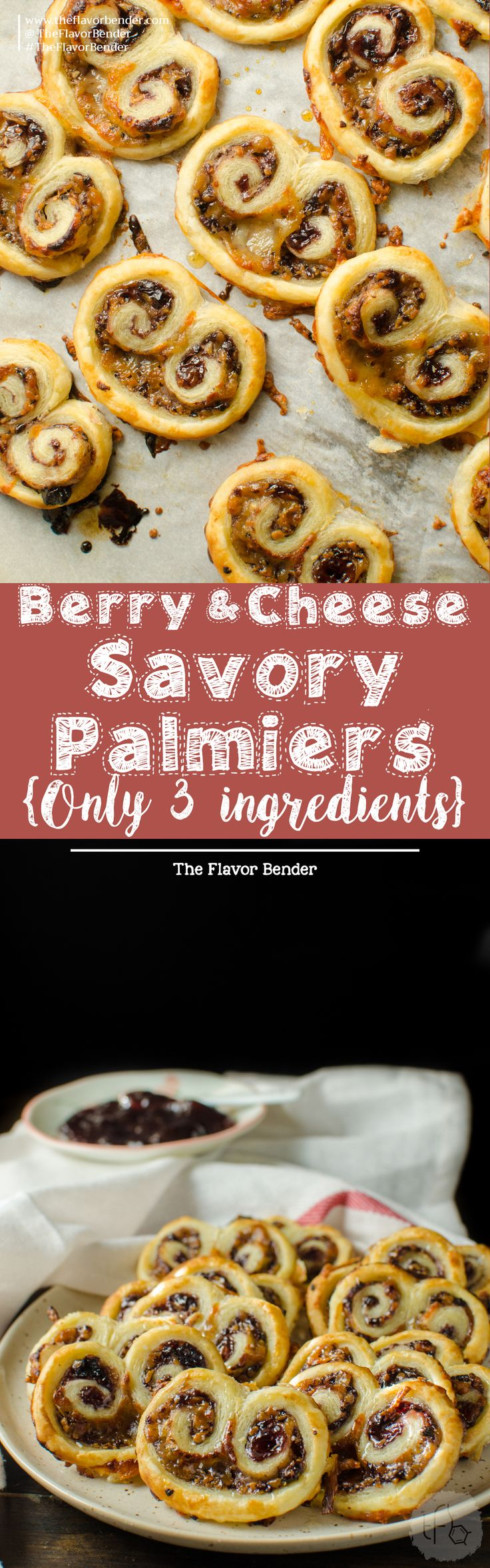 and sweet - these easy, cheesy savory palmiers are a delicious savory ...