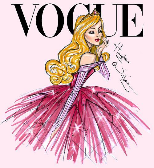 Disney Divas for Vogue by Hayden Williams: Aurora