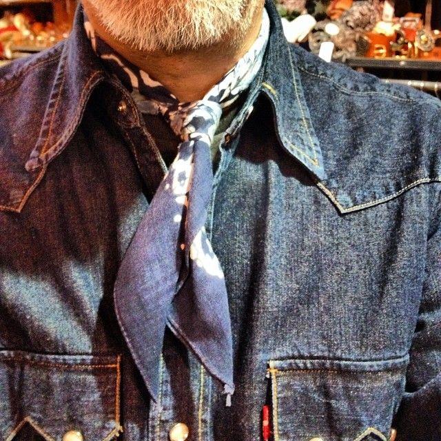 vintage bandana levi's shirt denim