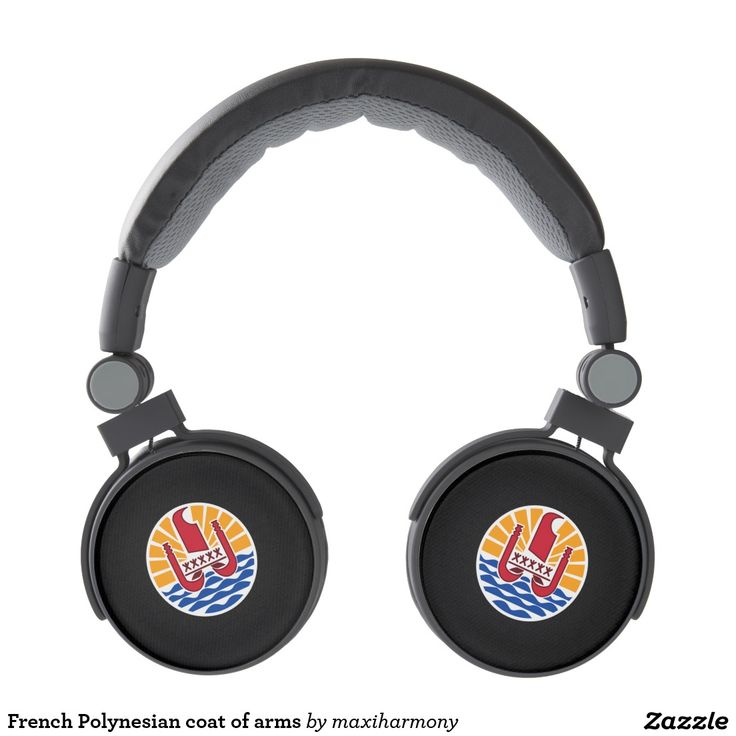 French Polynesian coat of arms Headphones