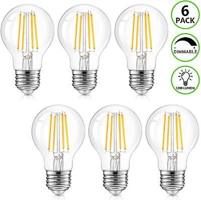 Sponsored Link Led A19 Dimmable Light Bulbs 100w Equivalent 1200lm 8w Vintage E26 Edison Warm In 2020 Lighting And Ceiling Fans Dimmable Light Bulbs Ceiling Fan