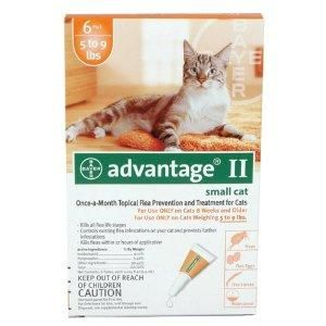 Advantage II for Cats 5-9 lbs - 6 pack | Veterinary Internet Company - $113 for 2 6-packs, plus free shipping