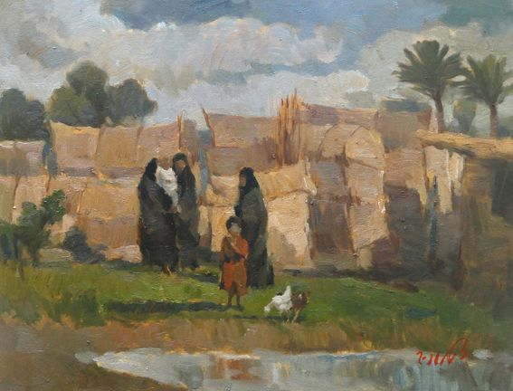raad al adham - Sreefa's village , IQ L - oil - 2011.