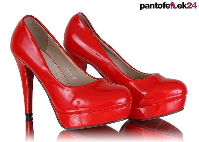 Czerwone szpilki / Red heels / 63,90 PLN #red #heels #shoes #szpilki #buty