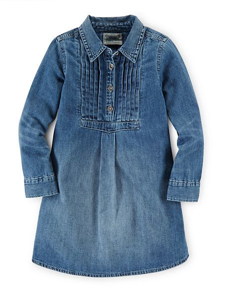 Girls 1 ½ - 6 ½ years - Robe-chemise en denim de coton