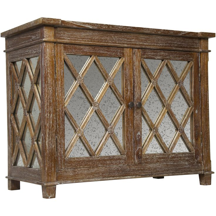 Elis Wood and Antique Glass Sideboard Media Center | Overstock.com Shopping - The Best Deals on Entertainment Centers