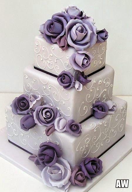 Purple classy cake