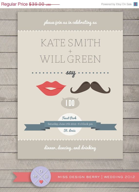 The 25 best Quirky wedding invitations ideas on Pinterest