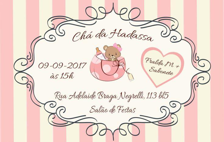 Convite Chá de Bebê da Hadassa