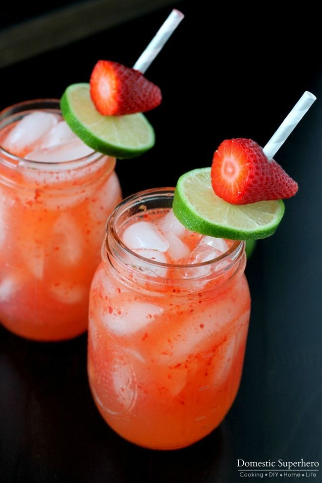 ... Strawberries make the perfect combination for this warm weather drink