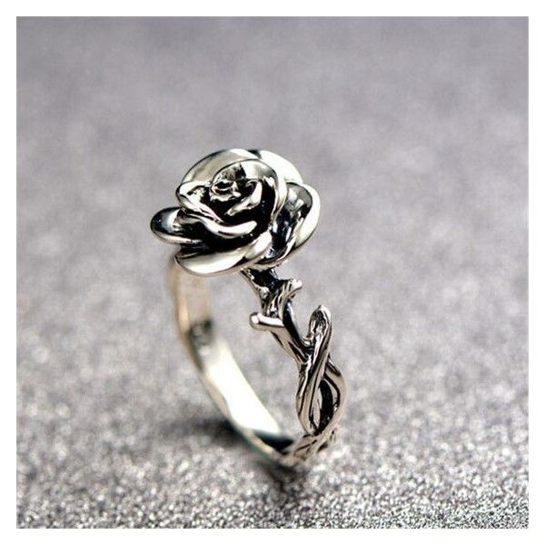 Eye Catching Silver Rose Fashion Ring [100520] $58.99 ❤ liked on Polyvore featuring jewelry, rings, rose jewelry, rose jewellery, silver rose ring, silver jewelry and silver jewellery