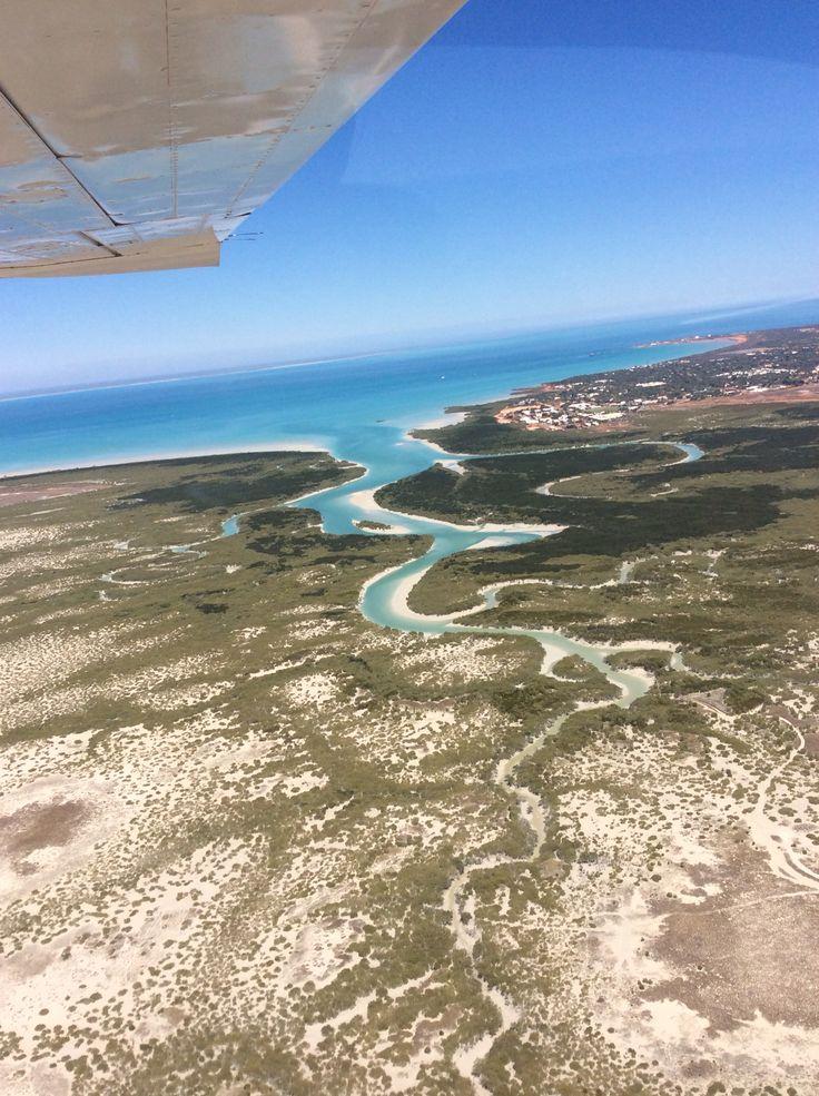 aerial view Broome Western Australia