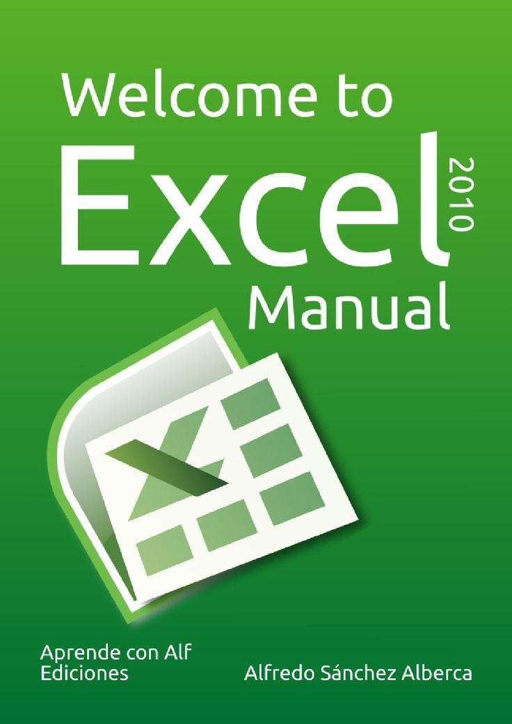 Excel manual  Basic Excel 2010 manual with animated examples. This manual is intended mainly for students of Economics and Business Administration, and for that reason, most of the examples in this manual are applied to accounting and finance. However, the manual also serves for learning a basic management of Excel, no matter the field of application.