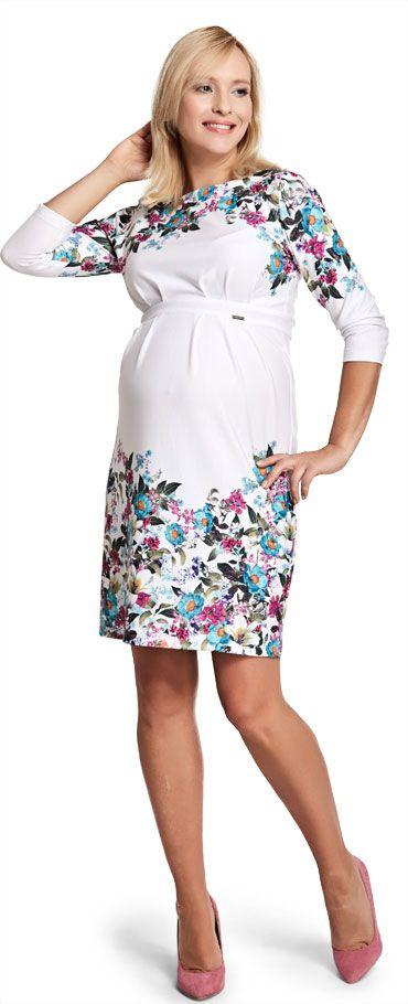 Happy mum - Charming вискозное платье в цветочный узор для беременных