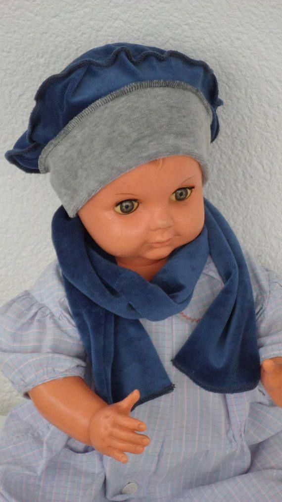bonnet béret chapeau bébé et écharpe lin eva kids   BONNETS BÉBÉ ... 0e4b693e350