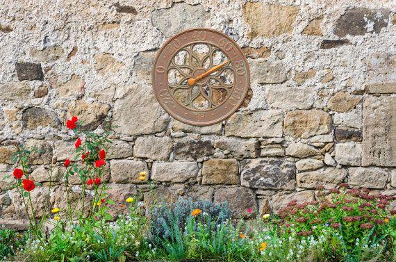 Medallion 18 Indoor/Outdoor Wall Clock & by SandCastAddressPlqs