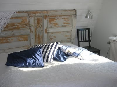 Dörr som sänggavel #DIY