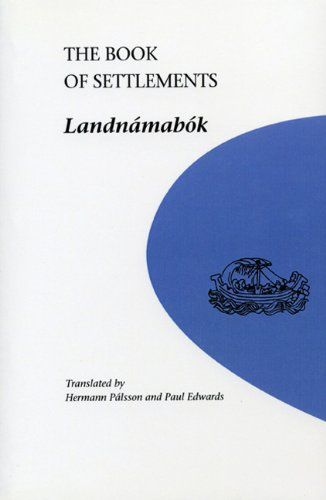 The Book of Settlements: Landnamabok (University of Manitoba Icelandic Studies) by Hermann Palsson http://www.amazon.co.uk/dp/0887556981/ref=cm_sw_r_pi_dp_Bmz4vb0EM0JH1