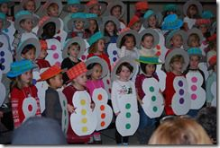 Easy snowman costume for performance or retelling