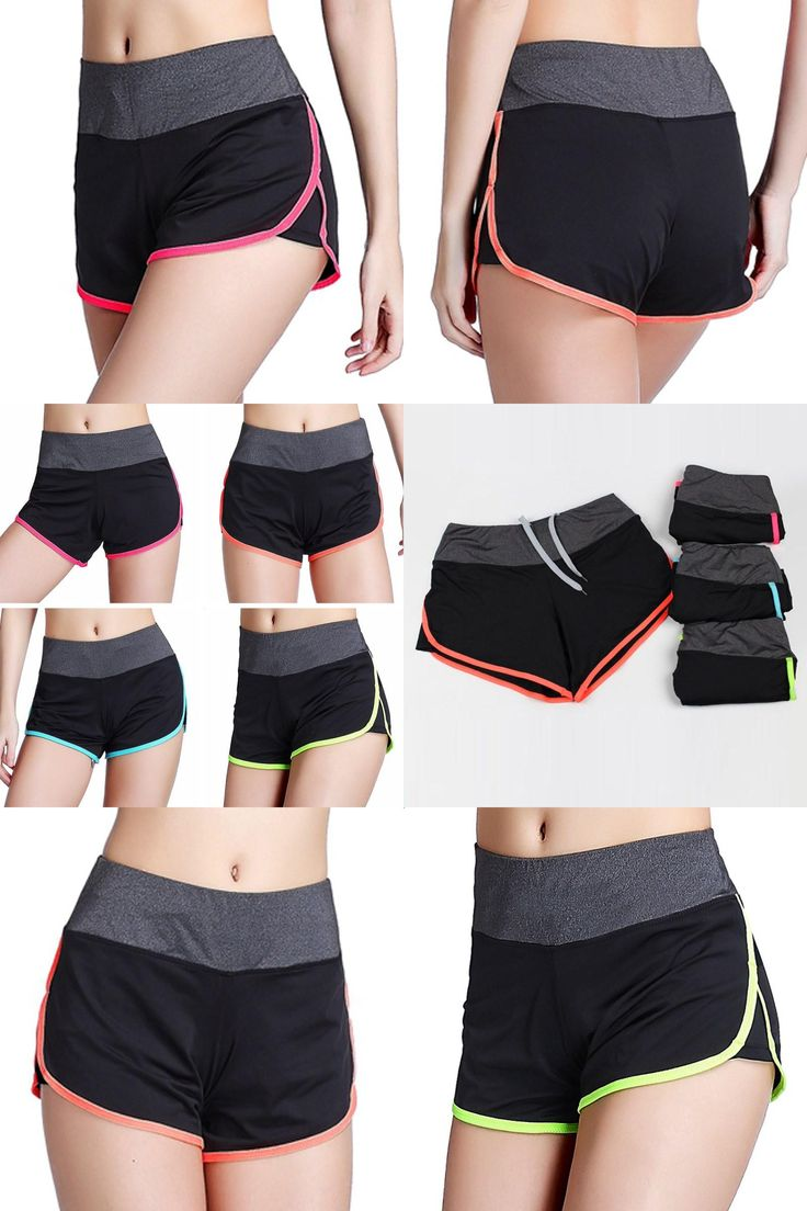 [Visit to Buy] Women Ladies Sports Shorts Workout Yoga Fitness Shorts Cycling Training  #Advertisement
