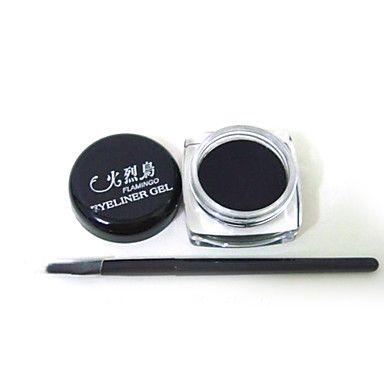 Musta Vedenpitävä Eye Liner silmänrajauskynä Gel meikki harja – EUR € 2.86
