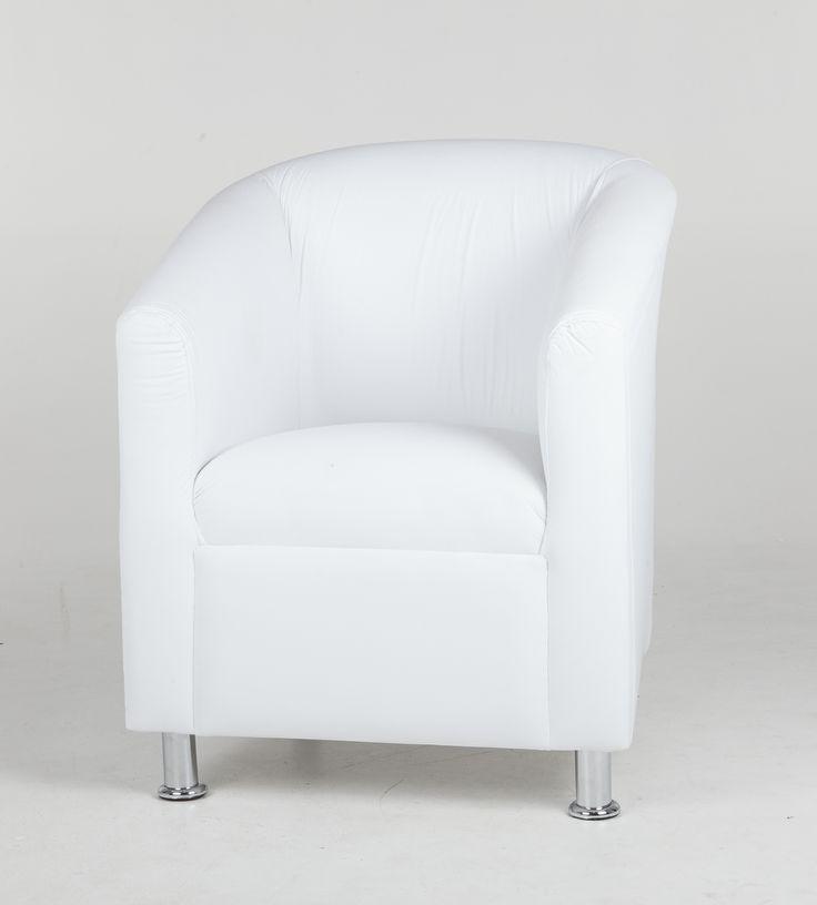White tub chair