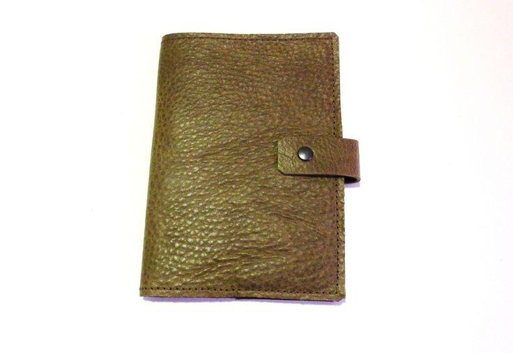 Ledereinband für Notizheft/Vokabelheft DIN A 6 von alles in Leder auf DaWanda.com