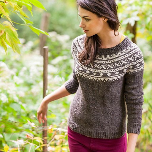 This is a printed pattern that requires shipping. Your new go-to sweater, Skydottir is a traditional Icelandic pullover. Stranded knitting...