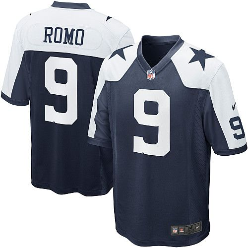 Men's online Nike #9 Tony Romo Game Navy Blue Throwback Alternate NFL Dallas Cowboys Jersey Cheap sale