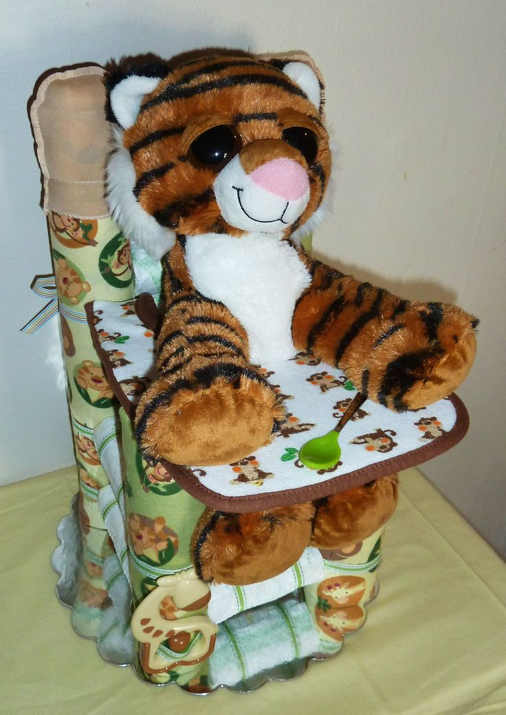 Diaper High Chair - Safari Neutral  www.etsy.com/shop/DiaperCreationsByD