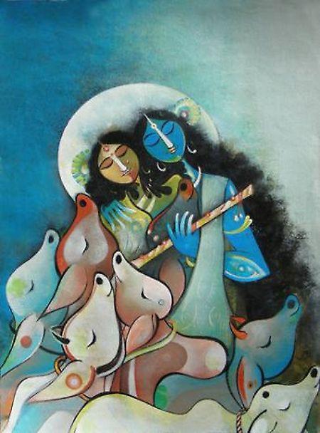 #radha #krishna #painting #art  #India #allMemoirs