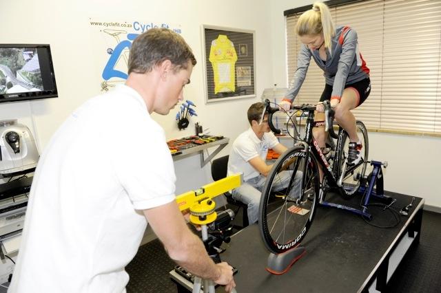 the race team hard at work at the original cyclefit studio...